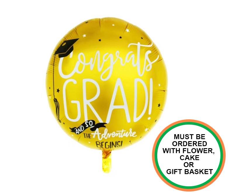 Congratulations Grad Balloon Round