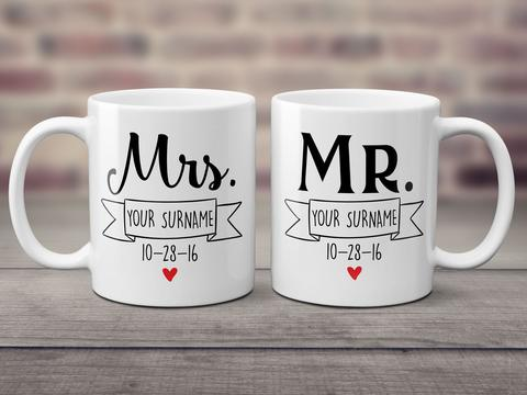 Mr and Mrs Couple Mug