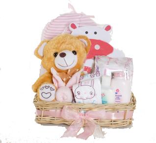 Pink Baby Basket