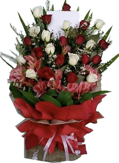 Red and White Big Bouquet