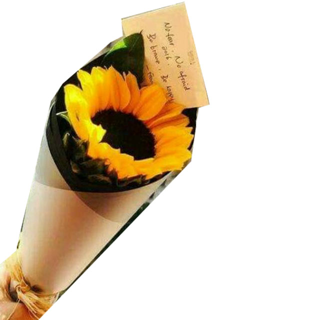 Single Stalk Sunflower Bouquet