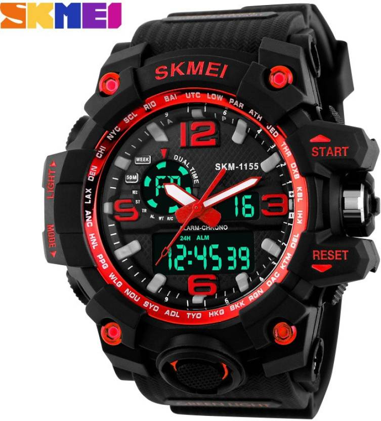 SKMEI Red with Silicon Strap for Men