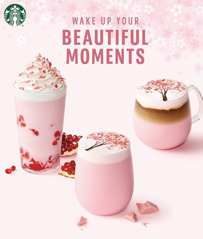 韓國Starbucks的櫻花季飲品
