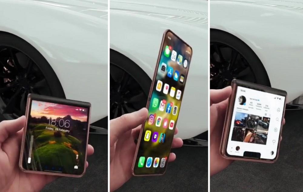 外國一位概念設計師Iskander Utebayev就分享他創作的「折疊式 iPhone 12 Flip」影片