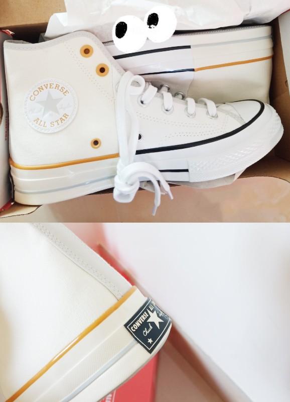 「Reconstructed Chuck 70拼接鞋款蜂蜜奶油小雛菊」拼色Converse