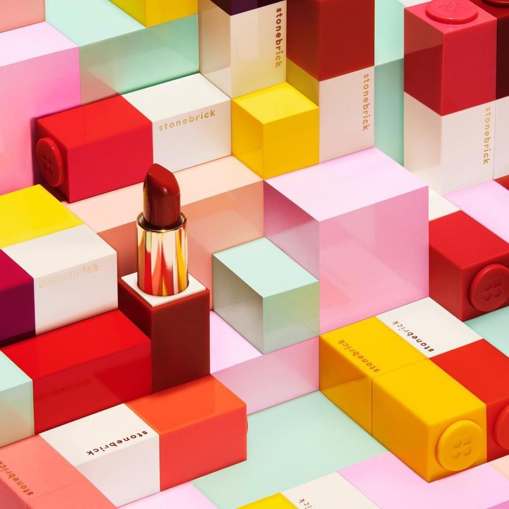 韓國彩妝品牌Stone Brick以積木唇膏