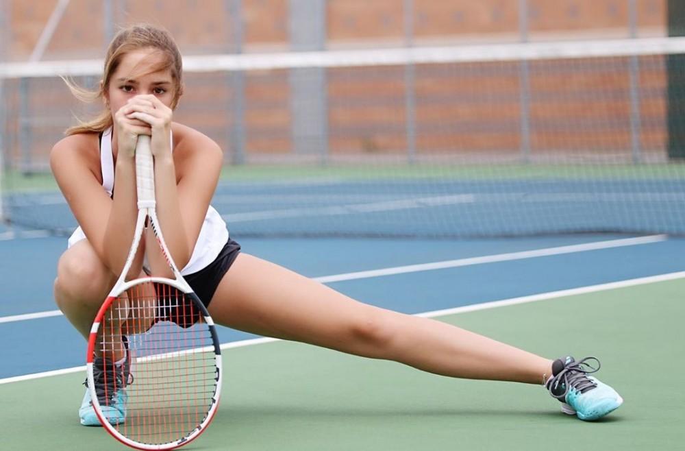 網球美少女Makenzie Raine的逆天長腿