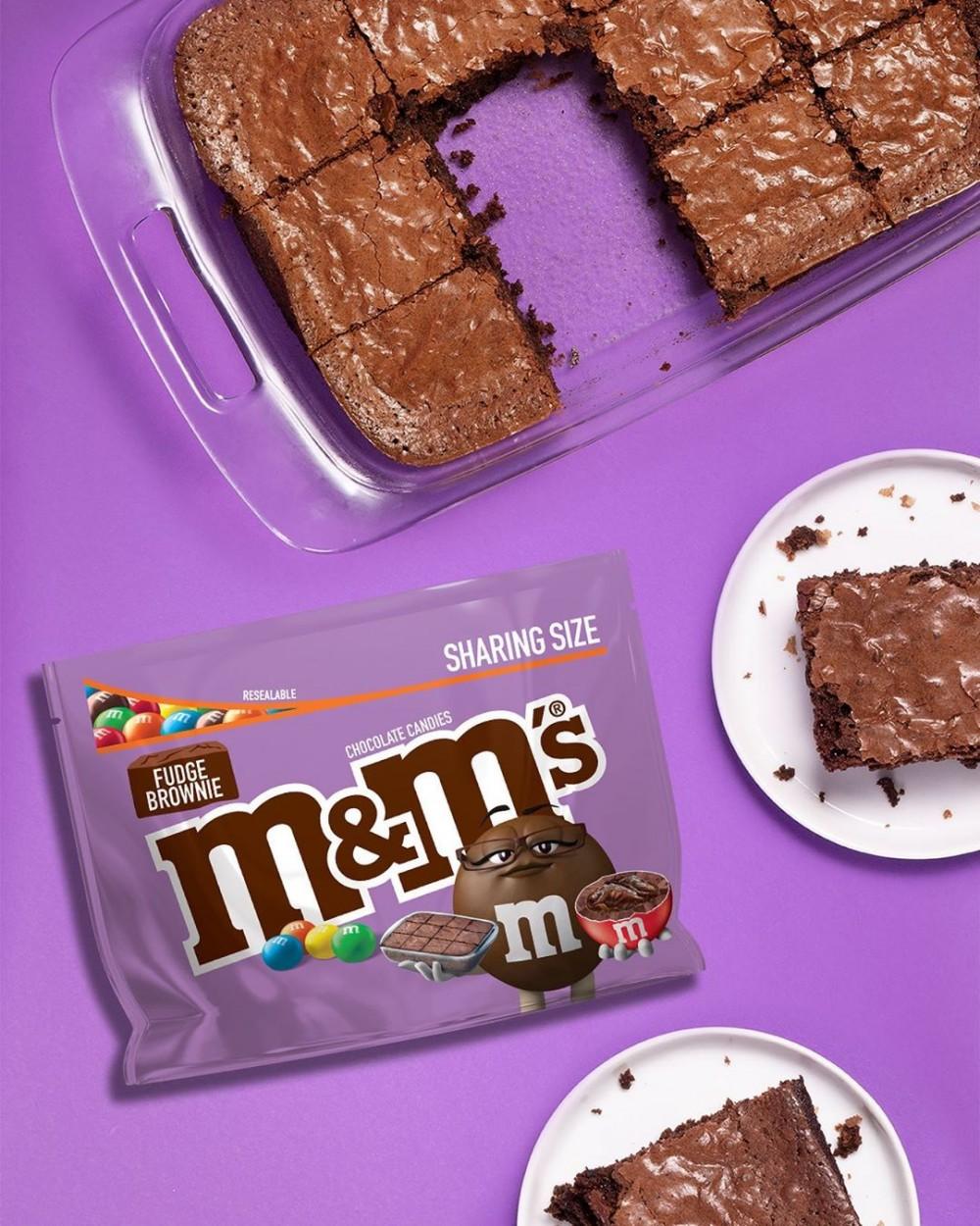 M&M'S 朱古力新口味Fudge Brownies布朗尼蛋糕4月推出