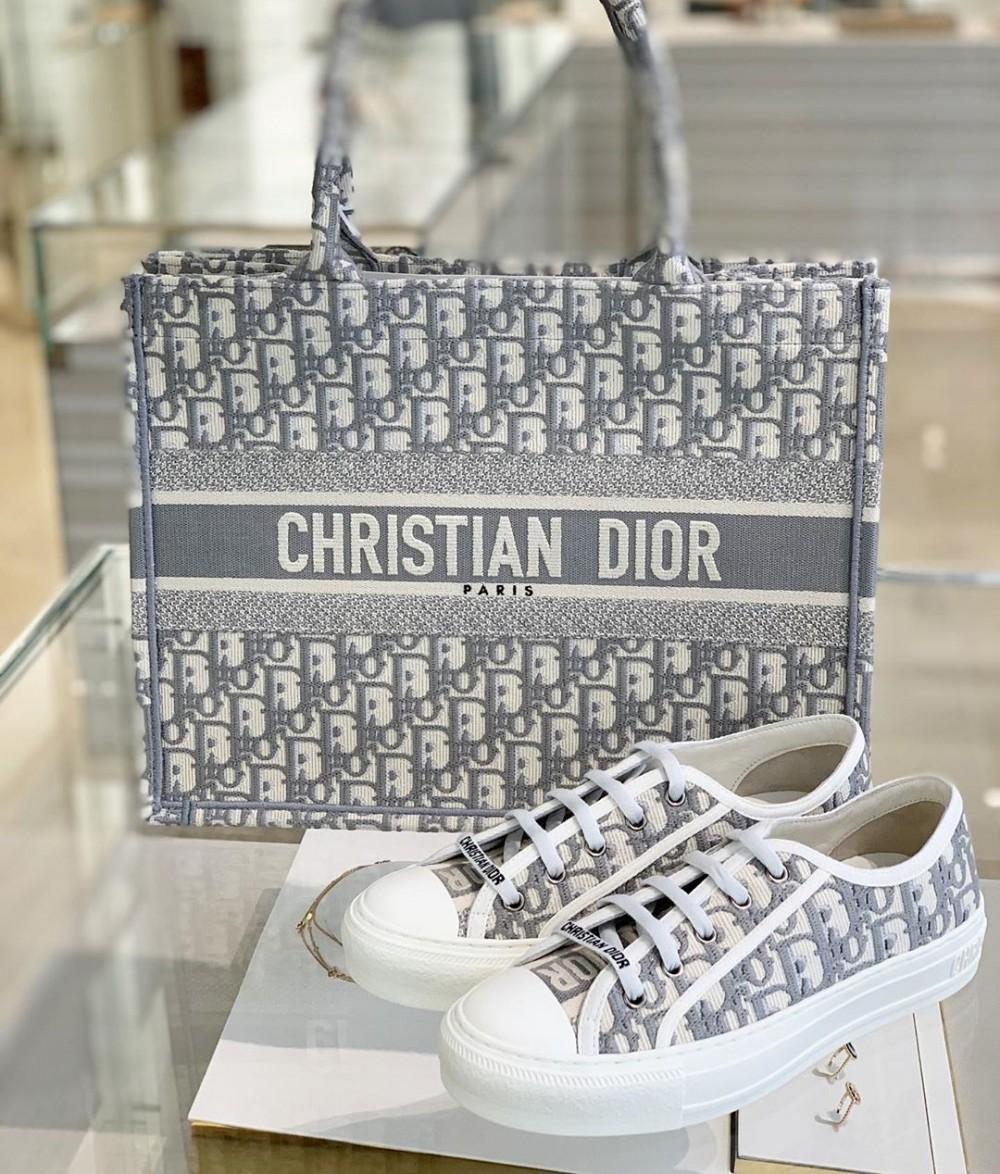 DIOR帆布鞋灰色、手袋、BOOK TOTE