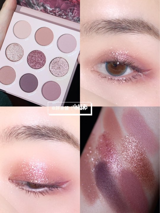 ColourPop making mauves 9色眼影盤鳶尾粉紫
