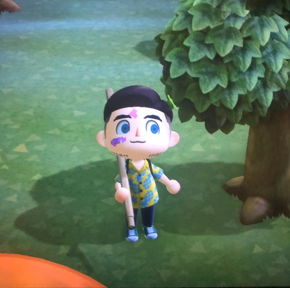 胎記男孩創造《動物之森》專屬角色