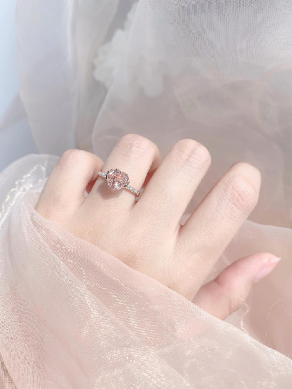 粉紅摩根石戒指「愛情石」