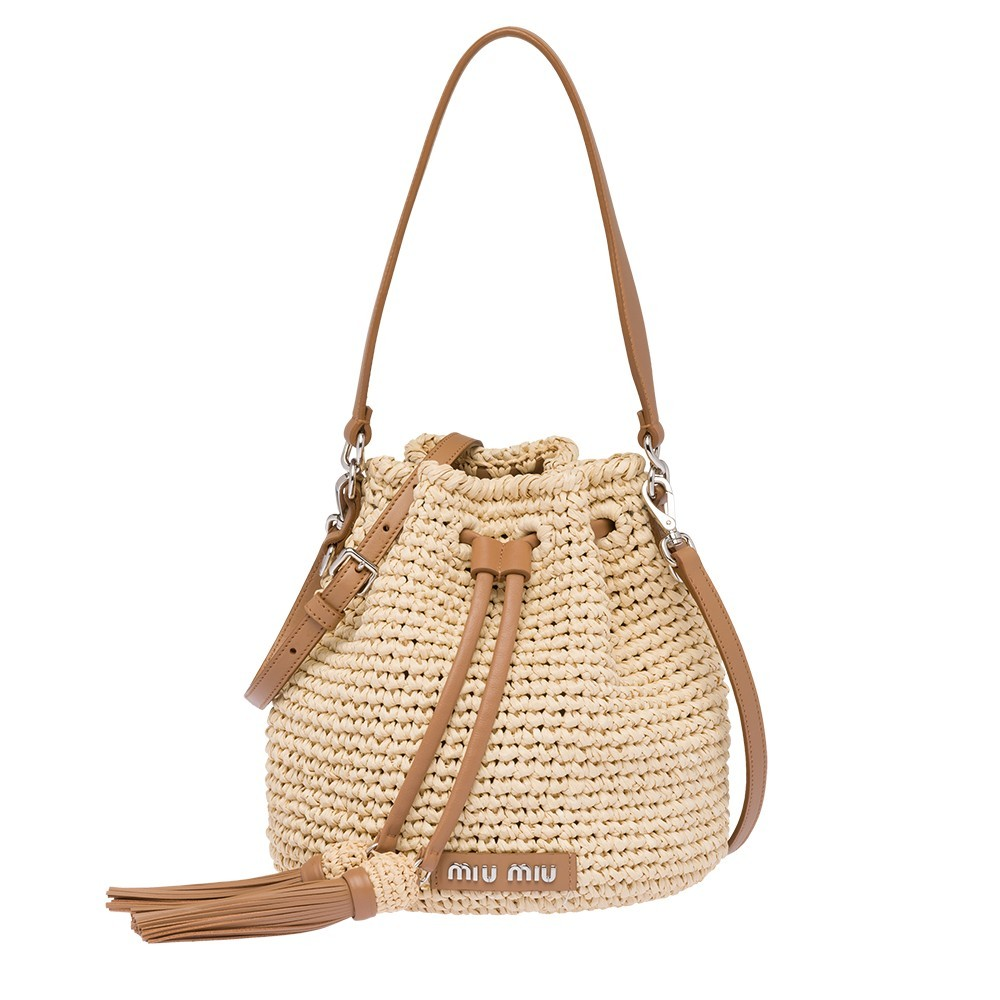 Miu Miu WOVEN BUCKET BAG WITH SHOULDER STRAP HK$ 10,300