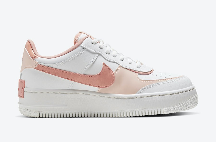 Nike Air Force 1 Shadow White Pink CJ1641-101 蜜桃粉色色