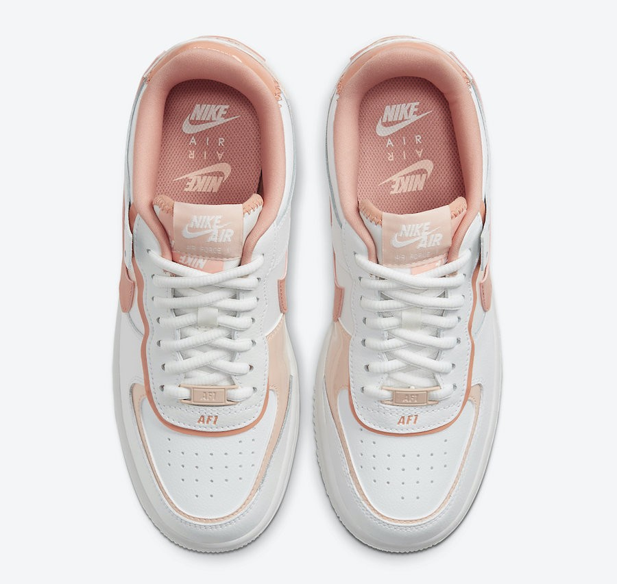 Nike Air Force 1 Shadow White Pink 蜜桃乳酪色 Style Code: CJ1641-101