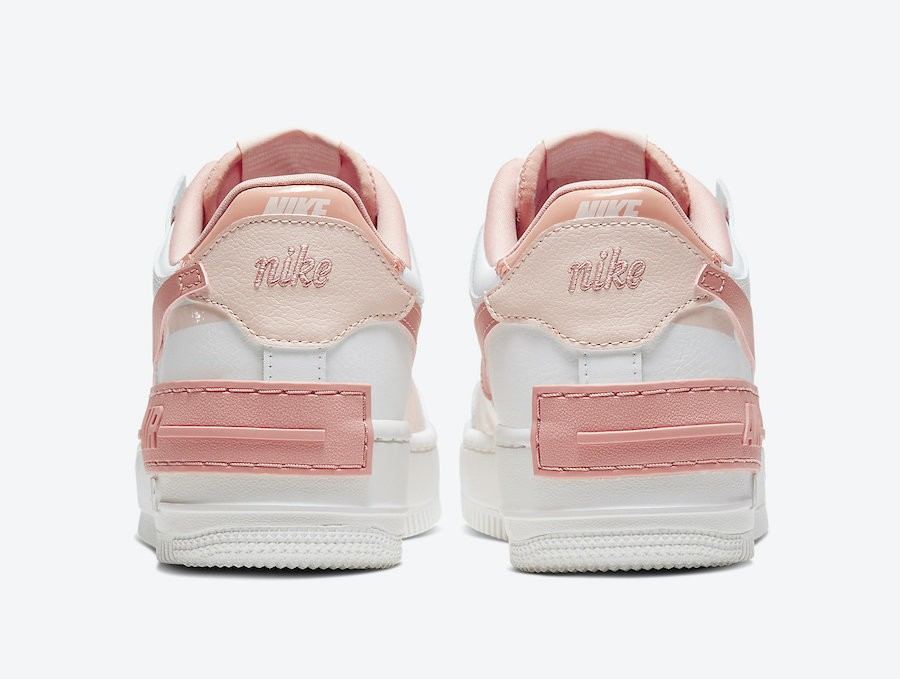 粉色 Nike Air Force 1 Shadow White Pink