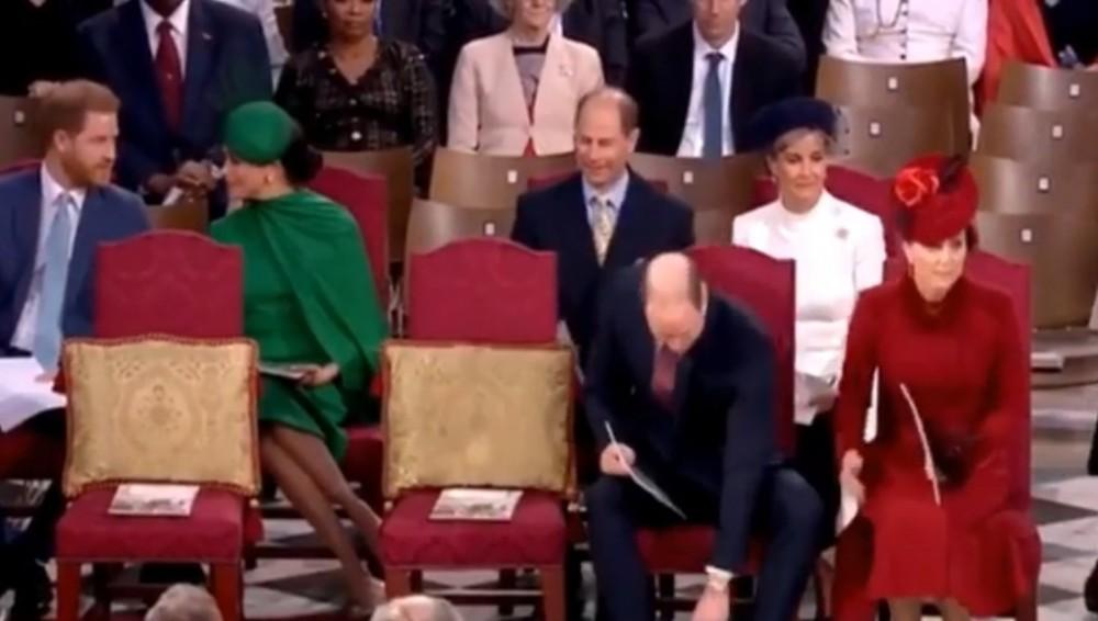 哈里王子與梅根和威廉王子凱特王零互動像陌生人無視對方
