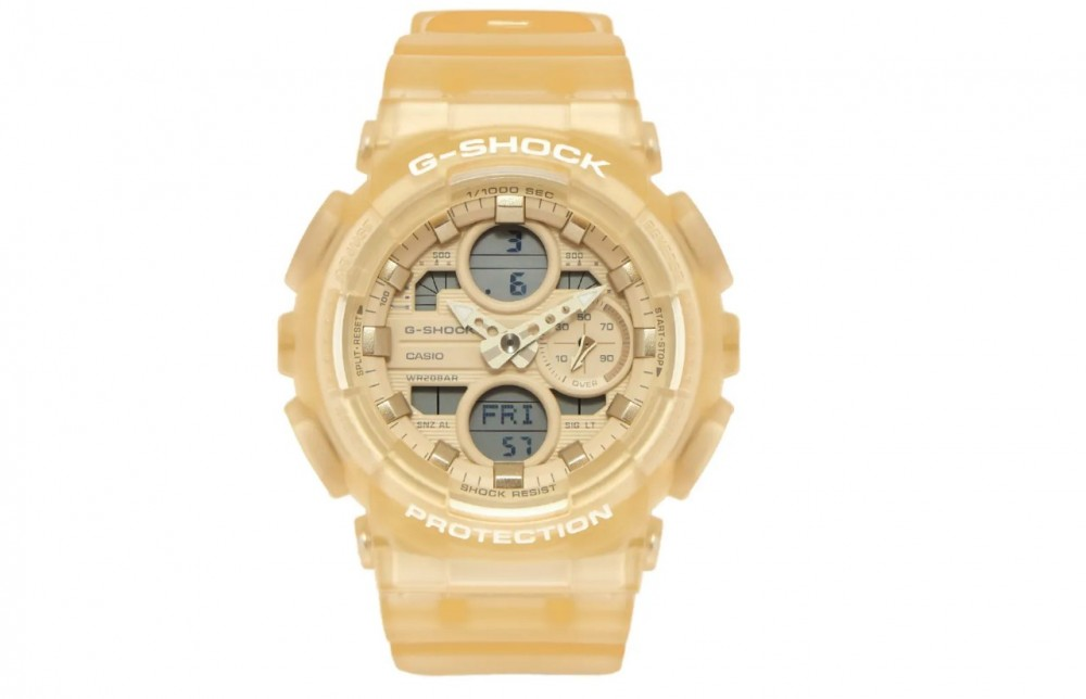 G-SHOCK 米白色手錶GMA-S140NC-7A