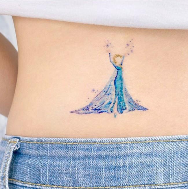 韓國Elsa迪士尼紋身