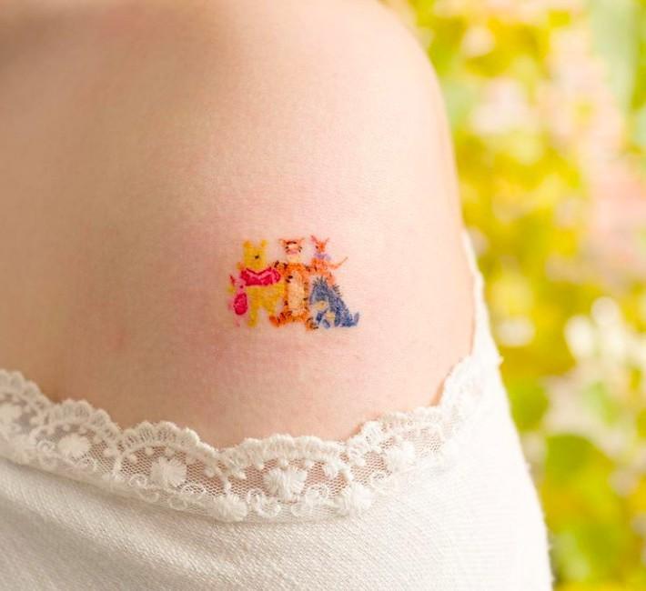 迪士尼小熊維尼紋身 IG @ovenlee.tattoo