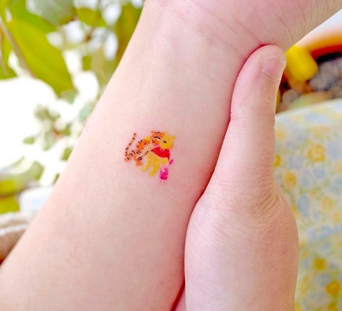 小熊維尼紋身