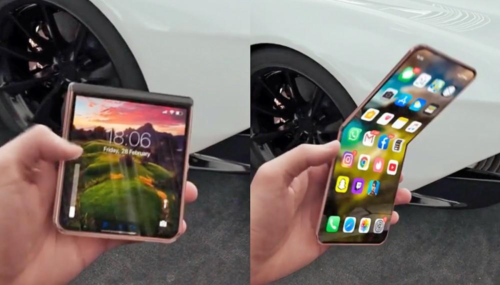 概念設計師Iskander Utebayev的「折疊式 iPhone 12 Flip」