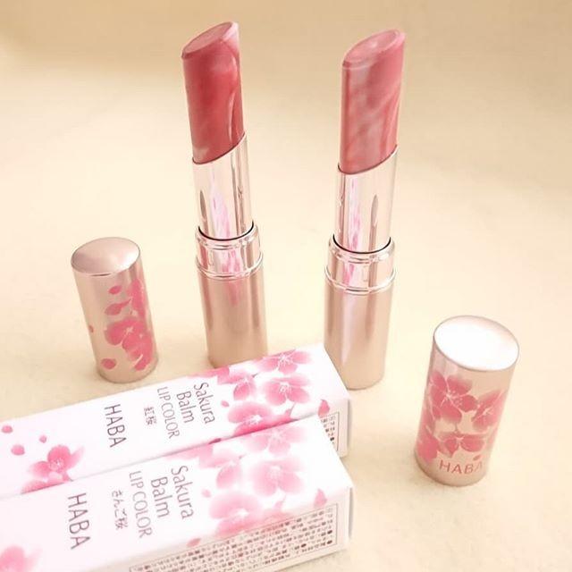 日本HABA櫻花雲石唇膏添加染井吉野櫻萃取物等美容成分