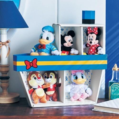日本bellemaison迪士尼公仔收納箱 唐老鴨船