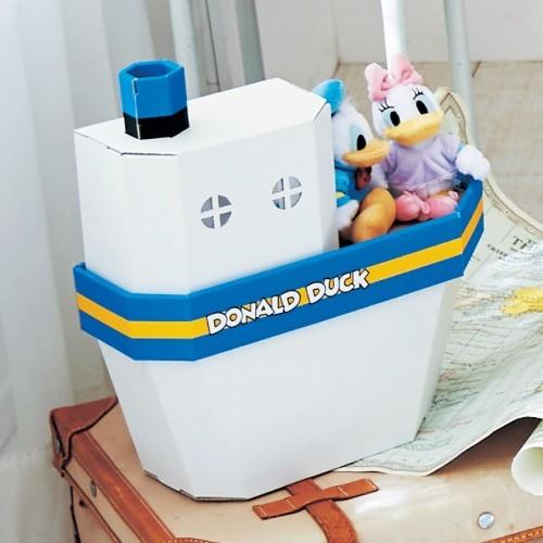 日本bellemaison 唐老鴨船 迪士尼公仔收納箱