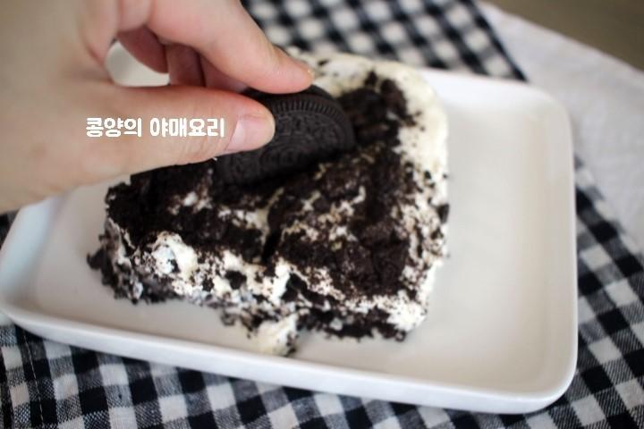 韓國A Twosome Place咖啡店招牌Oreo ice box蛋糕免焗食譜