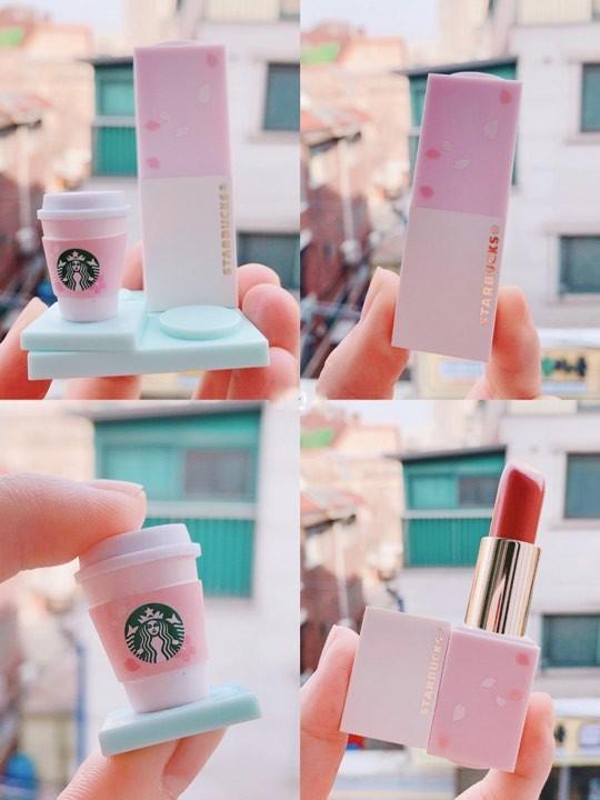 韓國Starbucks送櫻花積木唇膏