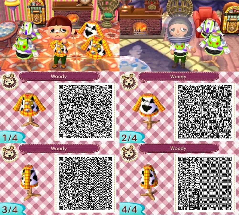 《集合啦!動物森友會》(動物之森)Toy Story服飾qr code