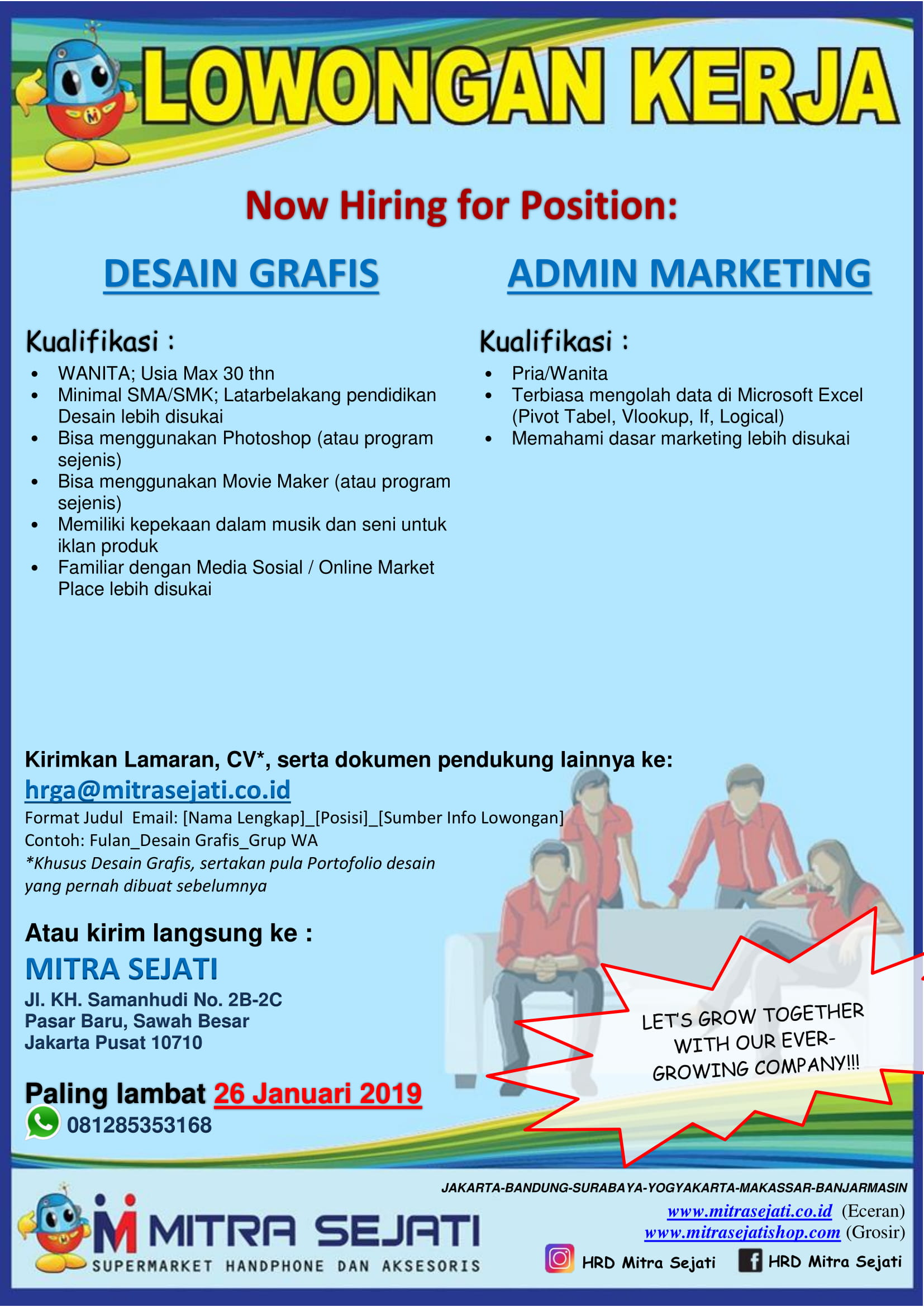 Admin Marketing At Cv Mitra Sejati