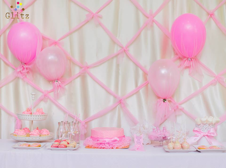 Ballet Birthday Party for little ballerina with customized decoration, backdrop, birthday cake, desserts, table setting and more