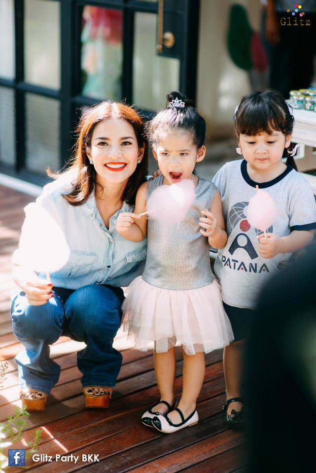 Birthday party in pastel theme for K.Aom Piyada's daughter,