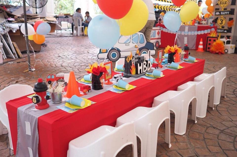 Rescue Birthday Party, customized for little rescuer, decorating with customized decoration, backdrop, birthday cake, desserts, pinata and activities