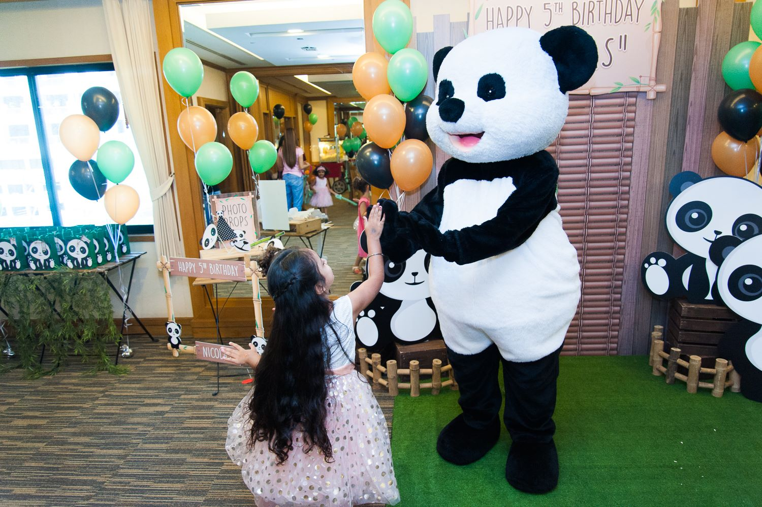 Surprise your kids with favorite animal birthday party, Panda theme and let us do the backdrop, balloons, mascot, games, food, desserts, drinks, birthday cake, goodie bags and all you want