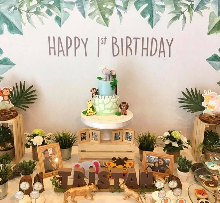 Tristan's safari and jungle birthday party! Thank you our celeb customer, K.Vicki, for choosing us, the party planner for kids birthday, providing one-stop party service in Bangkok area