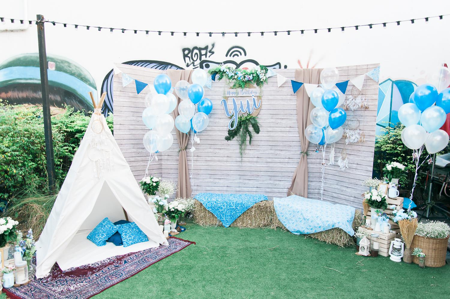 Bohemian theme party, idea for backdrop / photo corner / photobooth for your party, birthday, hennight, baby shower