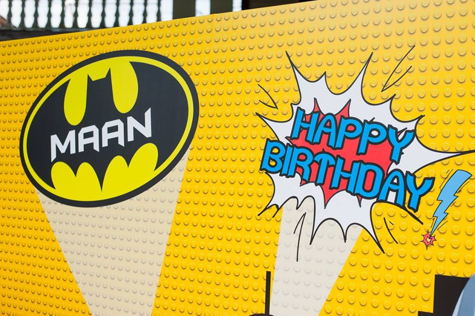 Organizing birthday party in super cute theme, Lego Batman - Backdrop, balloon arch, table decorations, pinata and fun stuffs