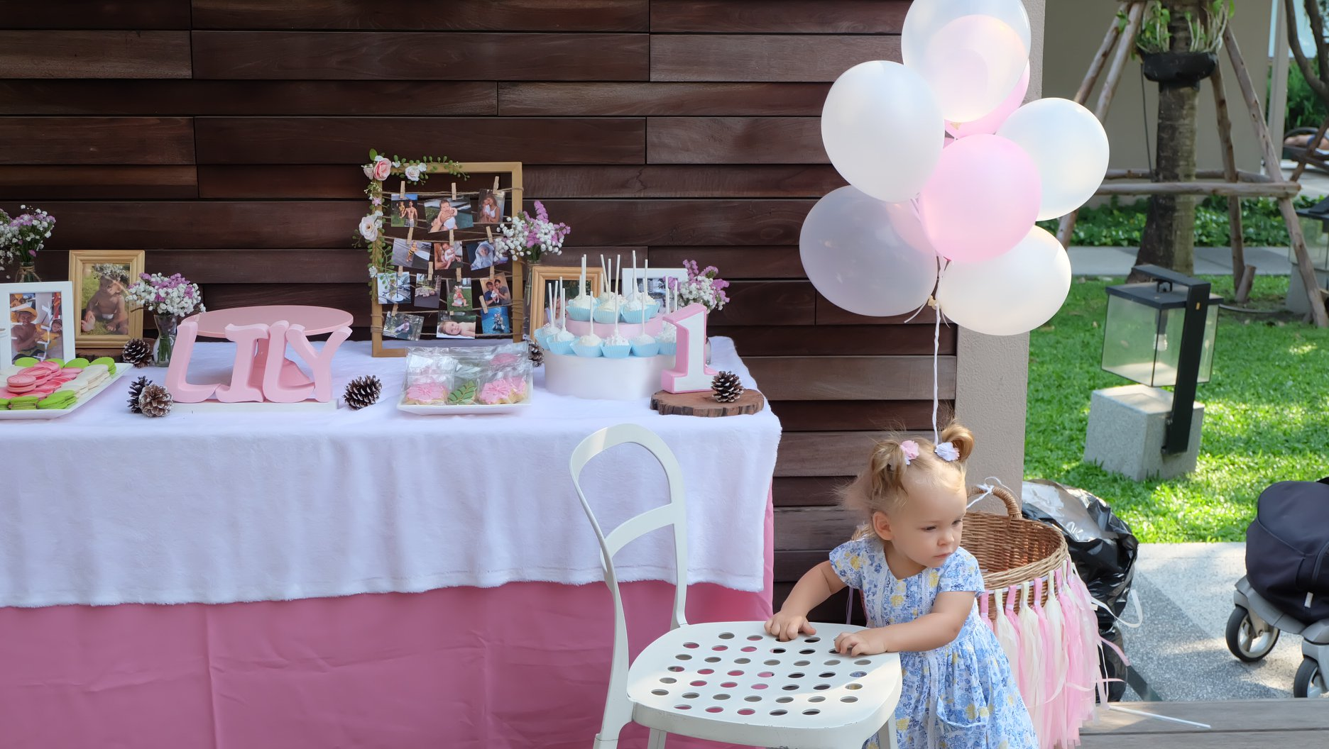 Pastel theme decoration by the party planner for kids birthday, providing one-stop party service in Bangkok area