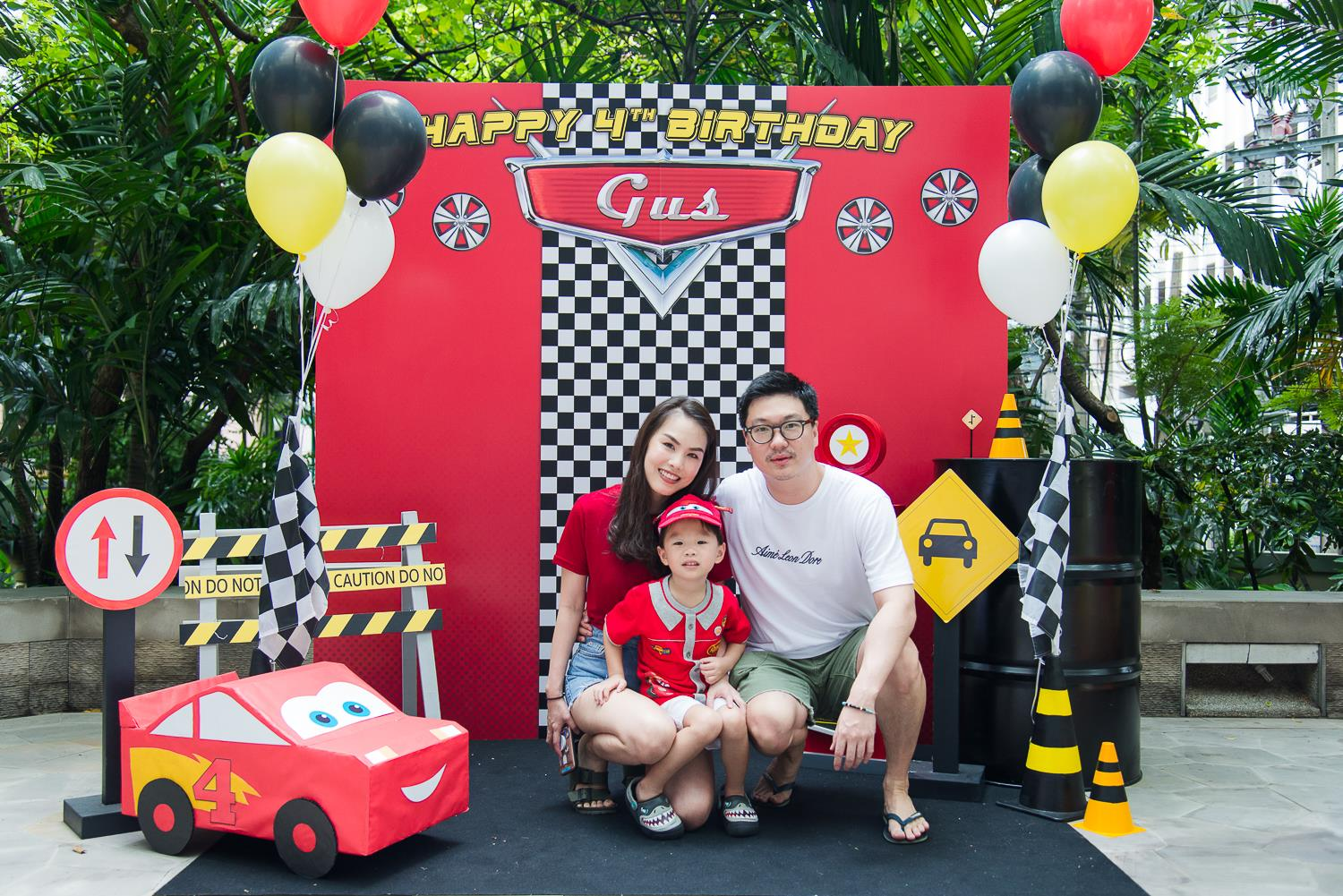 Cars Birthday Party with customized decoration, balloons  and activities - we are the party planner for kids birthday, providing one-stop party service in Bangkok area