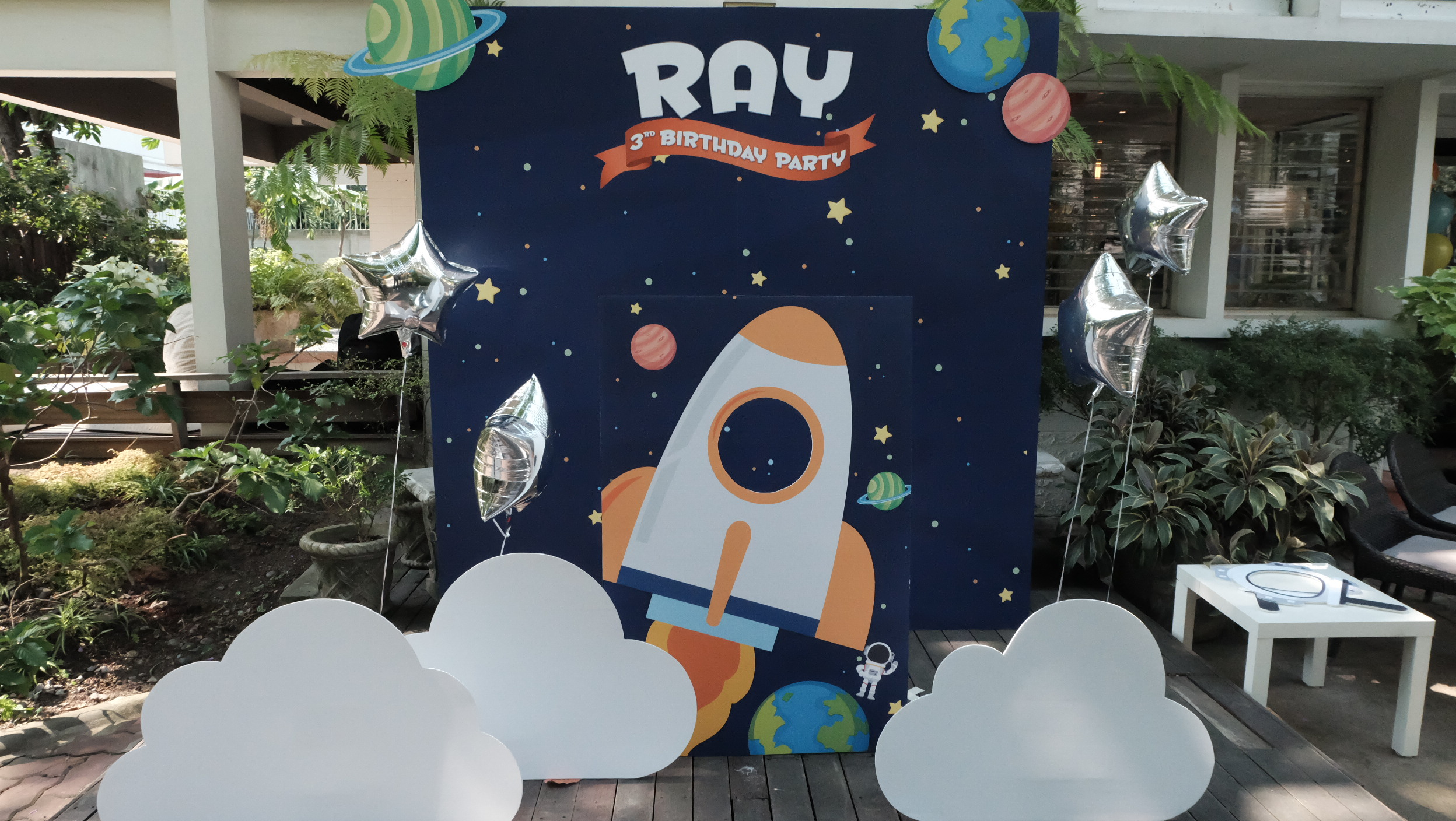 Birthday party in Rocket theme for K.Tata and K.Mor's son,