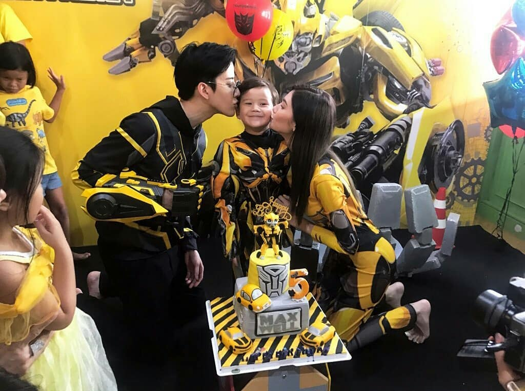 Maxwell's Bumblebee from Transformers birthday party, celebrating his five years old with family and friends. A lot of fun activities and amazing party decorations