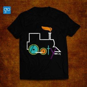 Nilgiri Railway - Ooty Souvenir T-shirt - black
