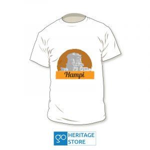 Hampi-chariot-white-tshirt