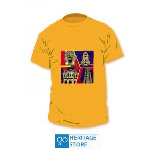 Hampi-comic-orange-tshirt