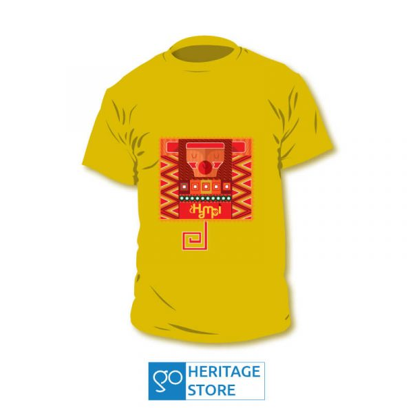 Hampi-monkey-yellow-tshirt
