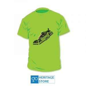 Badami-kasuti-shoe-green-tshirt