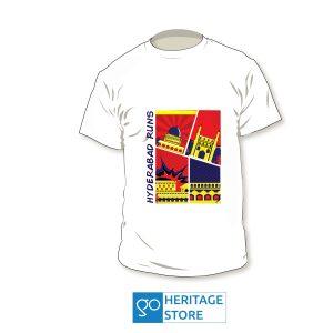 Hyderabad comic white run T-shirt